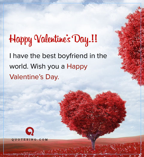 Valentines Day Quotes For Boyfriend Endearing Best Valentine Day Quotes For Boyfriend  Quotesing