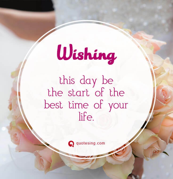 60 Happy Wedding Wishes Quotes Messages Cards And Images Quotesing Impressive Marriage Wishes Quotes