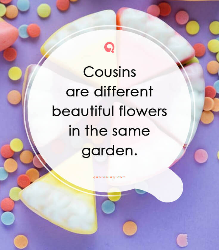 Inspirational Quotes For Cousins: 50 Inspiring Cousin Quotes And Sayings Pictures