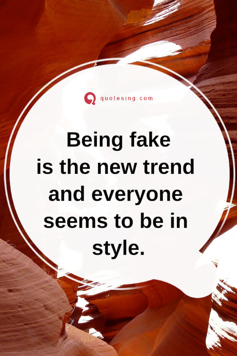 Fake People Quotes With Images Quotesing