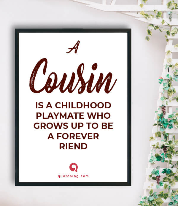 Cousin Quotes, Funny Cousin Quotes