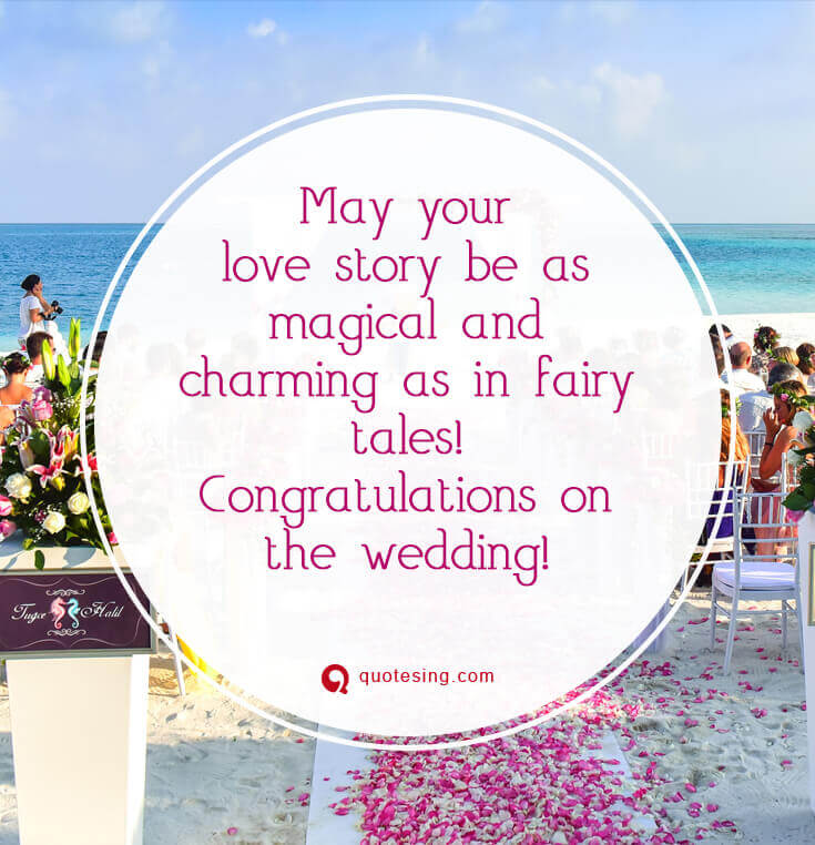 50 happy wedding wishes, quotes, messages, cards and ...